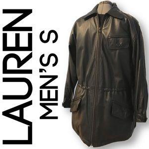 Lauren by Ralph Lauren S black leather coat